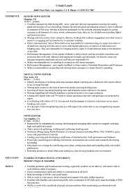 Digital Editor Job Description Digital Editor Job Description Template News Resume Sample Jd 3
