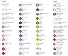15 Best Crystal Bead Color Charts Images Swarovski Crystal