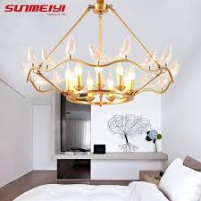 modern led lighting creative bird copper chandeliers for living room bedroom new art chandelier modern led modern led lighting