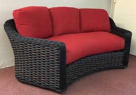 elegant lake george outdoor wicker curved sofa outdoor wicker furniture clearance