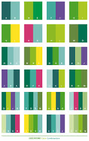 Green tone color combinations. Green tone web palettes