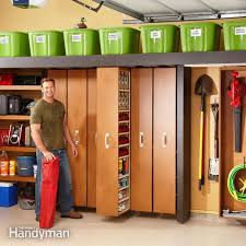 garage storage space saving sliding shelves