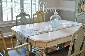 white distressed dining table recovering farm table chairs all things heart and home distressed dining room