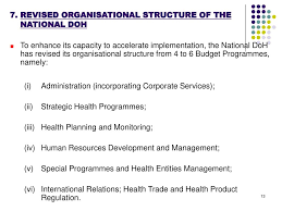 National Department Of Health Strategic Plan 2008 11