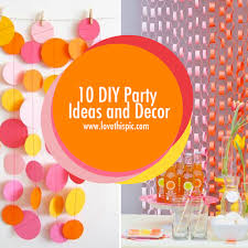Diy Party Printables 10 Diy Party Ideas And Decor