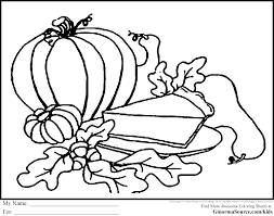 Free Thanksgiving Coloring Pages Pumpkin Pie