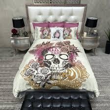 large size of plum sugar skull duvet cover queen skull duvet cover queen earth tour skull