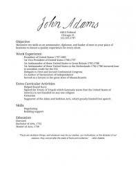 John Adams' Resume