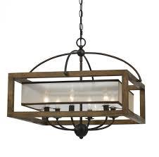60w x 6 square chandelier