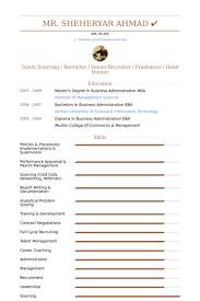 senior recruiter resume samples sample recruiter resume