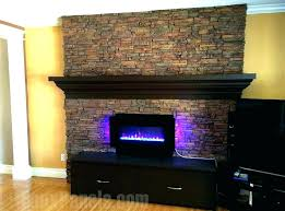 faux stone fireplace panels wall for over brick
