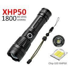 Đèn Pin Siêu Sáng XHP50 Tích Điện Cổng Sạc MicroUSB Bóng LED Sáng Cực Mạnh  - Đèn pin Nhãn hàng No brand