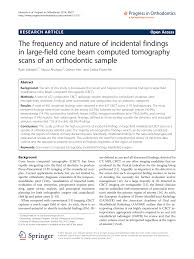 The Frequency And Nature Of Incidental Findings In Large
