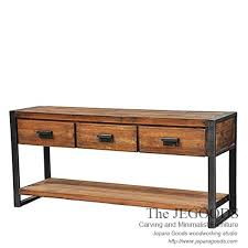 industrial wood furniture. Another Rustic Console Table ; Industrial Wood Furniture