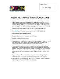 Operative Tratment Protocols
