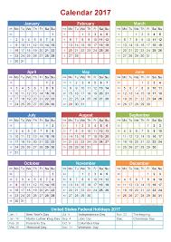 Free Printable Calendar With Holidays Free Printable 2017