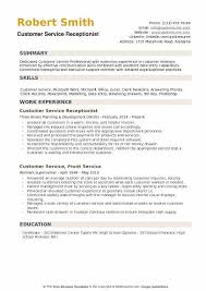 Microsoft Excel Resume Template Customer Service Receptionist Resume Samples Qwikresume