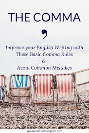 when is a comma used rules for comma usage how to use commas correctly poster the thumb
