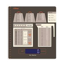Baking Weight Conversion Chart Digital Kitchen Food Scale With Conversion Chart And Lcd