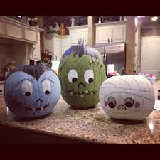 Scary Pumpkin Painting 64 Creative No Carve Pumpkin Ideas To Make This Halloween Ice