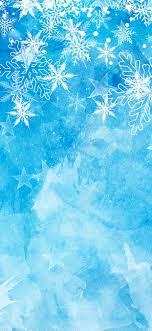 Snowflakes Blue Background Christmas Theme 1242x2688