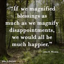 Forest Quotes Impressive If We Magnified Blessings As Much As We Magnify Disappointments