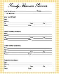 Family Reunion Book Template Family Reunion Registration Form Template Family Reunions