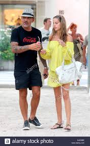 French Designer Christian French Designer Christian Audigier And His Girlfriend
