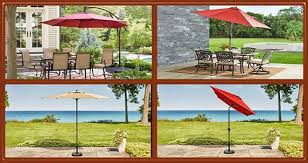 11 ft led round offset patio umbrella