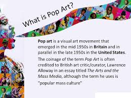 pop art ppt what is pop art pop art is a visual art movement that emerged in the mid