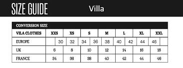 Vila Size Chart Wholesale Vila Clothes At Fcwholesale Com Vila Black
