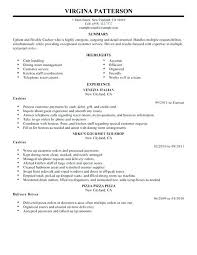 Cashier Resume Sample No Experience Sample Resume For Cashier