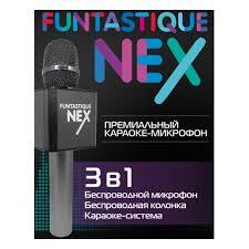 <b>Караоке</b>-микрофон <b>Funtastique NEX</b>, черный — купить в ...