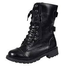Women Leather Boots, Mosstars Basic <b>Cross</b>-<b>Tied</b> Flat with Middle ...