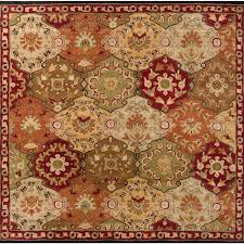 artistic weavers john red 10 ft x 10 ft square area rug jhn1034 99sq the home depot
