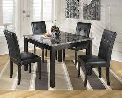 ashley maysville black square dining room table and chair sets rovigo large glass chrome chairs set