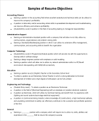 Business Resume Objective Sample General Objective For Resume 7 Examples In Pdf