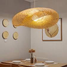 modern twist hanging light kit bamboo