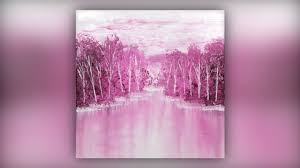 <b>Simple Abstract</b> Landscape / Acrylic Painting / <b>Pink</b> / Demo #016 ...