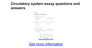 circulatory system essay questions and answers google docs