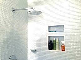 installing subway tile in shower large white subway tile glass mini shower walls fancy wall floor installing subway tile in shower