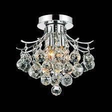 chair charming chandelier flush mount 19 0000583 12 monarch crystal small round chrome gold 3 lights