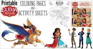 Watch your favorite disney film together, add popcorn, a drink, and a sweet treat. Elena Of Avalor Coloring Pages And Activity Sheets