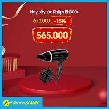 Điện máy XANH (dienmayxanh.com) - ⚡️Máy sấy tóc Philips BHD004 🔥Giá sốc:  #565K 🔥Giá thường: 670.000₫ (-15%) 💥Bao xài, bao đổi 1 năm nếu lỗi 💥Giao  hàng toàn quốc, miễn phí cho