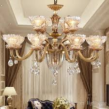 led chandelier european style full copper chandeliers chandelier lamp living room bedroom dining study room staircase carved pendant lamp iron chandelier