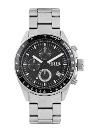 watches for men buy men s watches online in myntra fossil men black chronograph dial watch ch2600ie