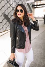 oak leather jacket nydj frayed hem jeans c o caslon pink sneakers forever 21 blouse last seen here welden bag ray ban aviators l oréal