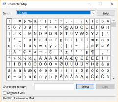 Microsoft Word Wingdings Chart What Is The Character Map