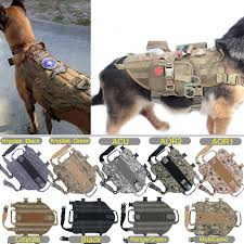 Tactical Dog K9 Training Molle Vest ...