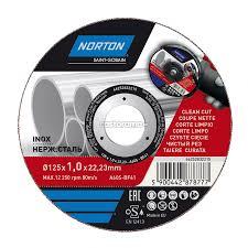 <b>Круг отрезной по</b> нержавеющей стали Norton Vulcan 125 x 1 x 22 ...